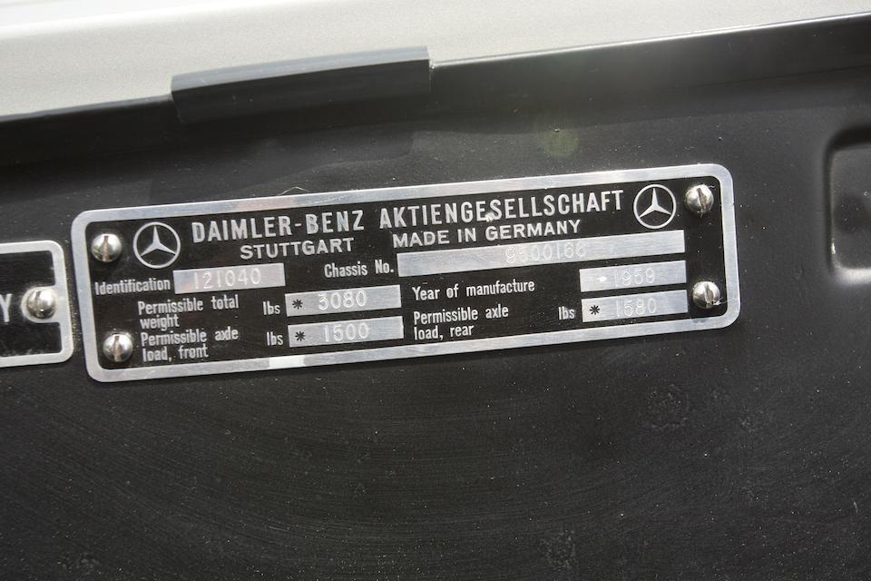 Bonhams : 1959 Mercedes-Benz 190SL Chassis no