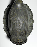 A rare and important cast bronze incense burner and cover in the shape of a goose Ming dynasty