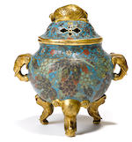 A rare cloisonné enamel covered censer Xuande mark,17th century
