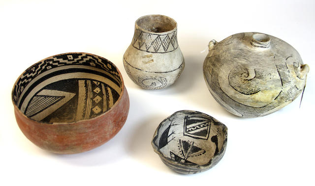 Four Anasazi vessels