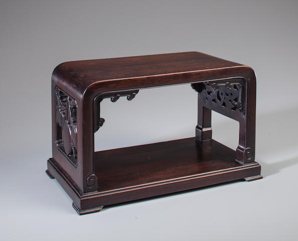 A zitan stand  18th/19th century
