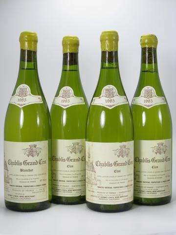 Chablis, Blanchot, Raveneau 1985 (2)<BR />Chablis, Clos, Raveneau 1985 (3)<BR />Chablis, Montée de Tonnerre, Raveneau 1985 (5)<BR />Chablis, Valmur, Raveneau 1985 (2)