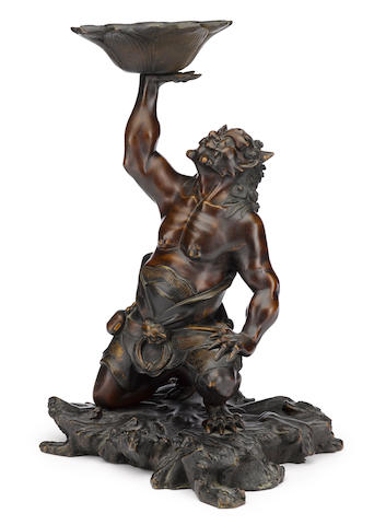 A bronze model of an oni Meiji period (late 19th century)