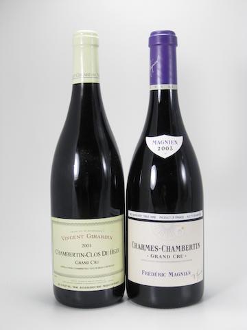 Chambertin, Clos de Bèze, V. Girardin 2001 (4)<BR />Charmes-Chambertin, F. Magnien 2003 (5)