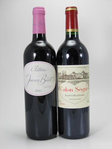 Château Calon-Ségur 2003 (5)<BR />Château Joanin Bécot 2005 (14)