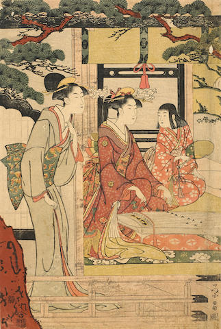 Chokosai Eisho (fl. 1790-99)<BR />One woodblock print