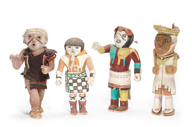 Four Pueblo dolls