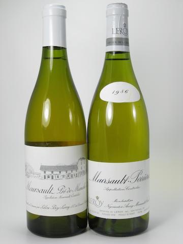 Meursault, Leroy 1983 (3)<BR />Meursault, Perrières, Leroy 1986 (5)<BR />Meursault, Pré de Manche, Domaine d'Auvenay 1989 (4)