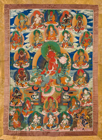A thangka of Red Tara Tibet, 18th century