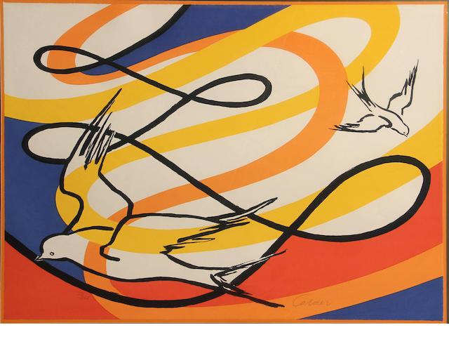Alexander Calder (American, 1898-1976); Birds in Flight;