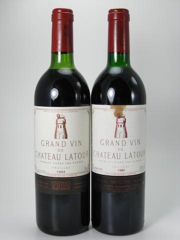 Château Latour 1982 (4)<BR />Château Latour 1985 (1)