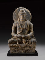 A schist figure of Maitreya Ancient region of Gandhara, circa 3rd century