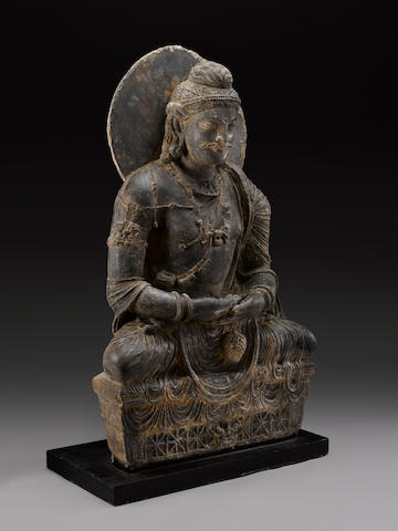 A schist figure of Maitreya Ancient region of Gandhara, 3rd/4th century