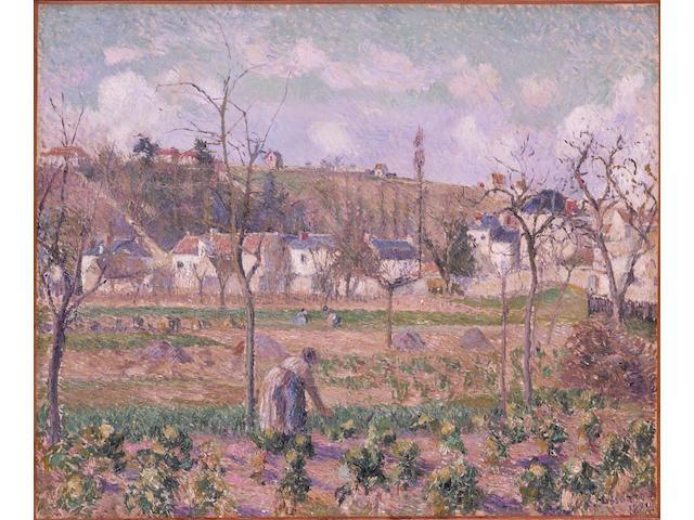 CAMILLE PISSARRO (1830-1903) Le jardin de Maubuisson, Pontoise, la mère Belette 21 7/16 x 25 7/8 in. (54.5 x 65.7cm) Painted in 1882