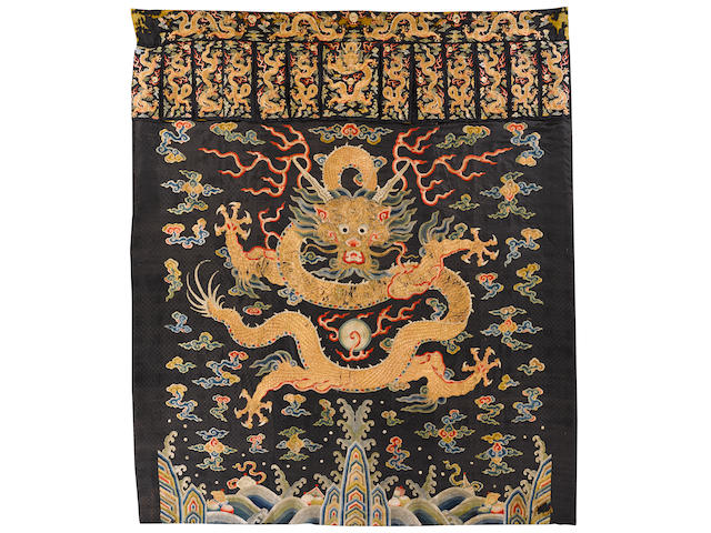 Silk embroidered banner, Kangxi period
