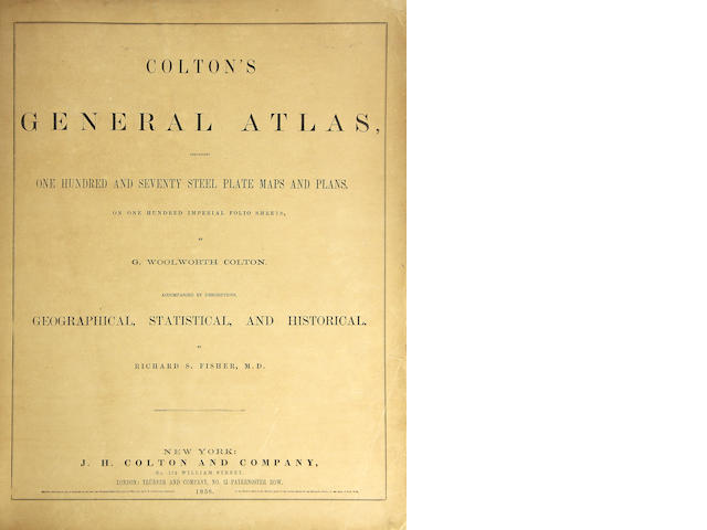 Colton's General Atlas, 1858.