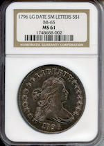 1796 $1 Large Date, Small Letters MS61 NGC