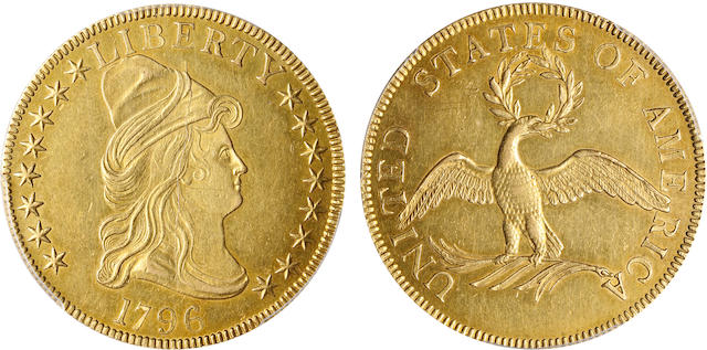 1796 $10 AU58 PCGS