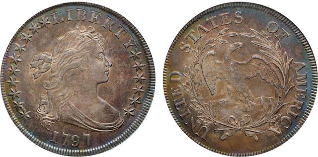 1797 $1 10X6 Stars, MS62 PCGS