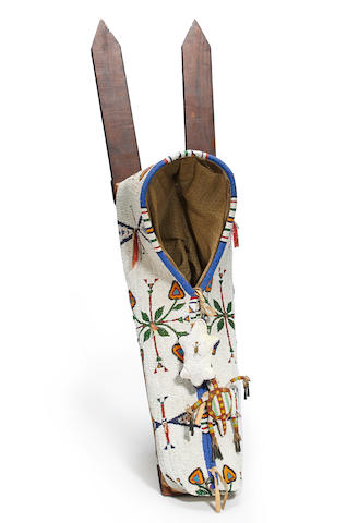 A Cheyenne beaded cradle