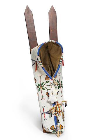 A Cheyenne beaded cradle