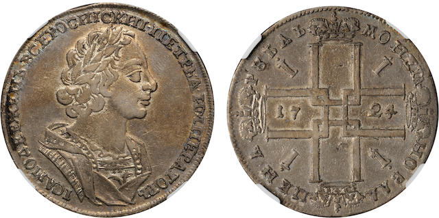 1724 Russia Rouble VF30 NGC
