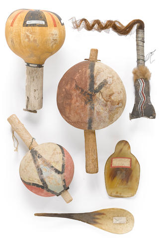 Six Native American artifacts