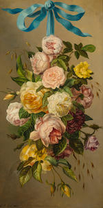 British school, mid-late 19th century A pair of floral and fruit still lifes