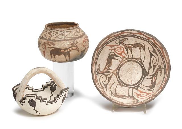 Three Zuni vessels