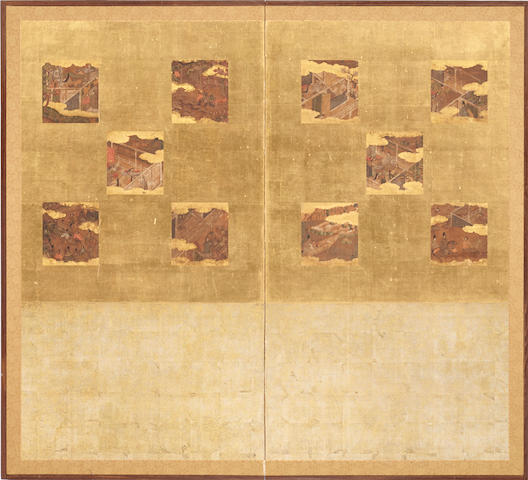 Anonymous Rimpa school (17th century) Episodes from the Tale of Genji