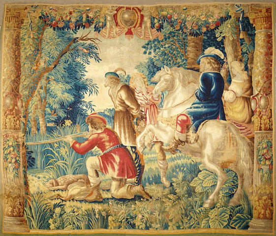 A Beauvais hunting tapestry  early 18th century
