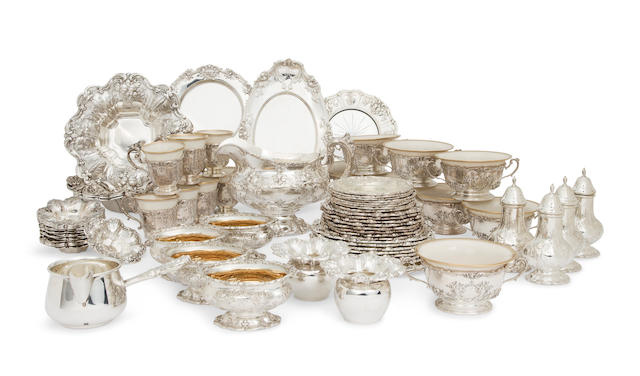 An American sterling silver extensive group of table and serving article<BR />by Reed & Barton, Taunton, MA, mid- to late 20th century
