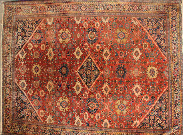 A Mahal carpet  size approximately 9ft. 2in. x 12ft. 2in.