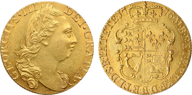 Great Britain, George III, Gold Guinea 1776