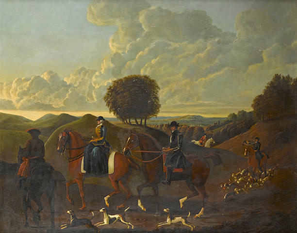 Continental School, 18th Century The hunt
