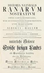 RÖSEL VON ROSENHOF, AUGUST JOHANN. 1705-1759. Historia naturalis ranarum nostratium.... Nuremberg: Johann Joseph Fleischmann, [1753-]1758.