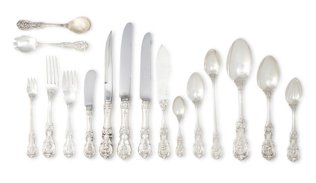 An American sterling silver extensive assembled flatware service<BR />by Reed & Barton, Taunton, MA, mid-20th century & later