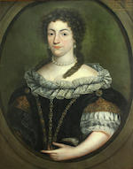 French School, circa 1700 A portrait of a gentleman, thought to be Charles Pierre Pasquier; A portrait of a lady, thought to be his wife (a pair) 32 x 25in