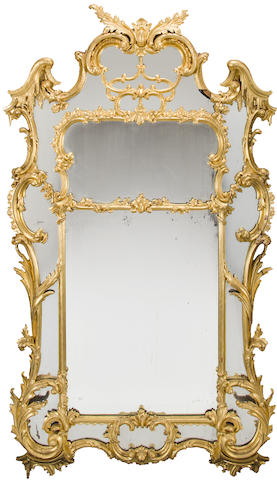 A George III carved and giltwood pier mirror in the Chinese taste late 18th/early 19th century