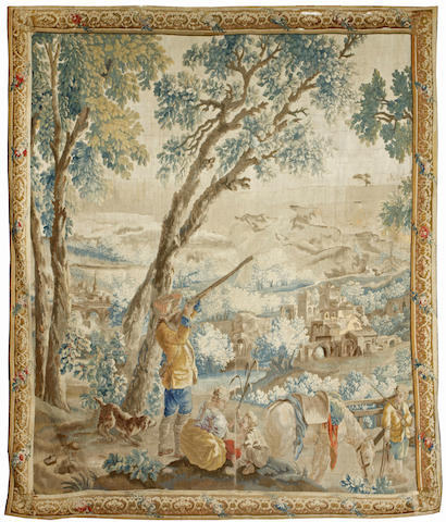 A Louis XV Beauvais pastoral tapestry<BR />mid-late 18th century