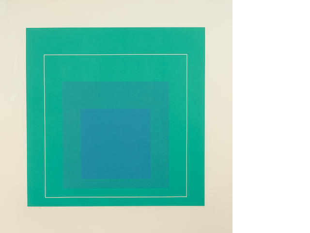Josef Albers (1888-1976); WLS-III, from White Line Squares (Series I);
