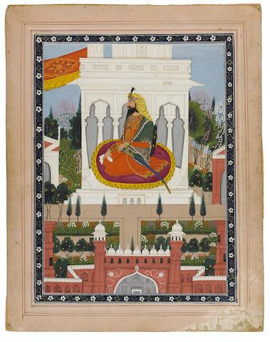 A portrait of Raja Dhian Singh Lahore, circa 1850-70