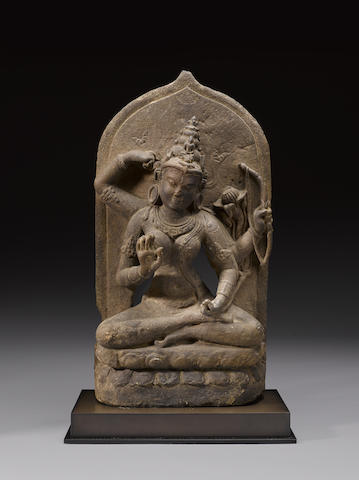 A sandstone stele of Kurukulla Eastern India, Pala Period, 9th/10th century