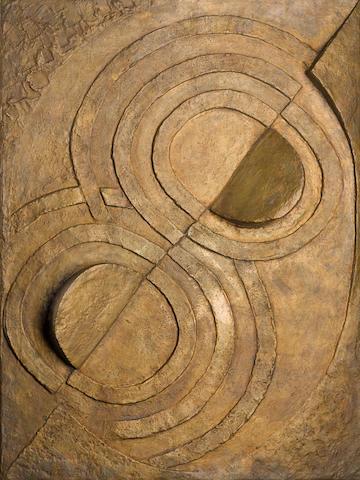 ROBERT DELAUNAY (1885-1941) Relief bronze 51 1/4 in. (130.2cm) (height)