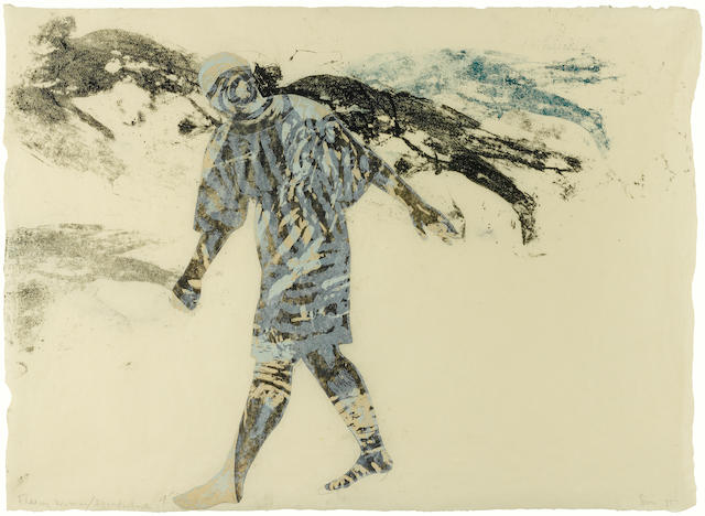 NANCY SPERO (1926-2009) Fleeing Woman/Irradiated, 1985