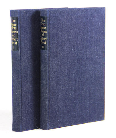 LIMITED EDITIONS CLUB. FROST, ROBERT. 1874-1963. Complete Poems. New York: Limited Editions Club, 1950.