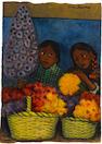 DIEGO RIVERA (1886-1957) Dos muchachas con las flores 15 3/16 x 10 13/16in. (38.5 x 27.5cm)