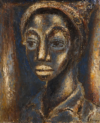 Gerard Sekoto (South African, 1913-1993) Blue Head