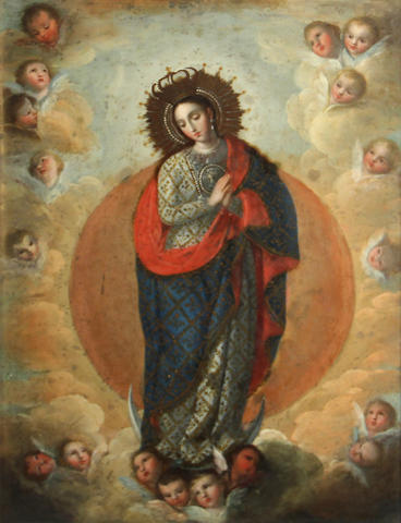 Jose Maria Vazquez (1755-1855) The Immaculate Conception 16 1/2 x 12 3/4in