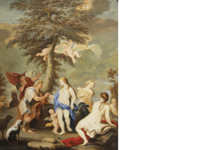 Bouly (active 1717), (After Luca Giordano) The judgement of Paris 8 1/4 x 6 1/2in